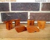 70% OFF CLEARANCE Cedar Souvenir Salt & Pepper Shakers Set of 6
