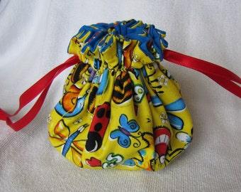 Drawstring Pouch - Medium Size - Drawstring Jewelry Bag - Jewelry Tote - BUG TACIOUS