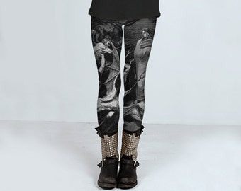 XXI Canto (Dorè / Dante) - Leggings - Yoga Pants - Death's Amore Clothing - From XS to XL