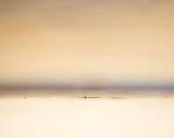 driftwood sea, landsape wall art, ethereal photography, ethereal art, orange, yellow, coral, minimalist photo, giclee canvas