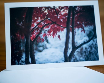 Single note card 3.5x5 Winter note card