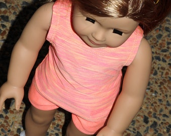 18 Inch Doll Shorts and Tank Top