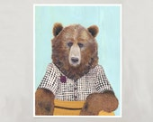Art Print - Grizzly Bear - Signed by Artist - 8x10 // 16x20 // 22x28