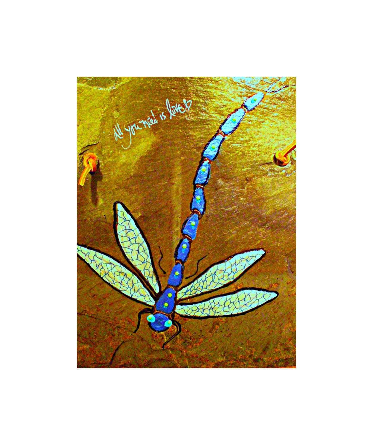 Dragonfly decor dragonfly paintings hand by dawnsinkspirations for Dragonfly mural