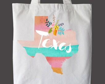 State Tote Bag, Market bag, Reusable Bag, State Love, Book Bag, Custom bag, Personalized bag, Beach Bag, Summer Bag, Canvas Bag