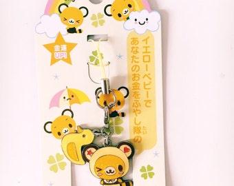 Tenorikuma kawaii phone strap charm da collezione