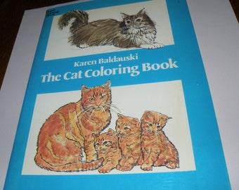 "1980 Karen Baldauski ""The Cat Coloring Book"""