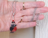 Portland Trail Blazers Necklace, Blazers Bling Black, Red and Silver Crystal Pro Basketball Necklace, Blazers Accessory Fanwear