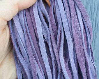 Lavender Buckskin Lace- Sheep- 1/8 inch wide- Hand Cut- 20 Feet