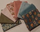 NEW  Garden Days Spring Fabric Bundle Quilt Craft Fat Quarter Bundle- Blues, Pinks & Greens