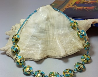 Precious Murano glass necklace