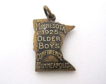 1925 Minnesota Charm, Older Boys Conference Minneapolis by Josten
