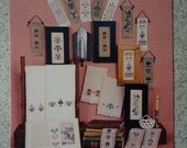 1987 Miniature Keepsakes, Bookmarks, Towels, Bellpulls Counted Cross Stitch Booklet