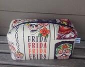 Frida Sugar Skull Zipper Pouch