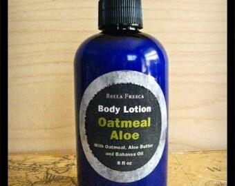 Oatmeal Aloe Body Lotion, Unscented Lotion — Oatmeal Moisturizer Skin Care for Men & Women, Dad Husband Gift, Boyfriend Gift, Mens Gift