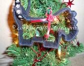 Scotty Dog Christmas tree ornament - free shipping!