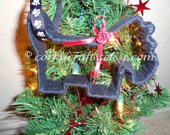 Scottish Terrier ornament/scotty sympathy, scotty gifts, pet ornaments