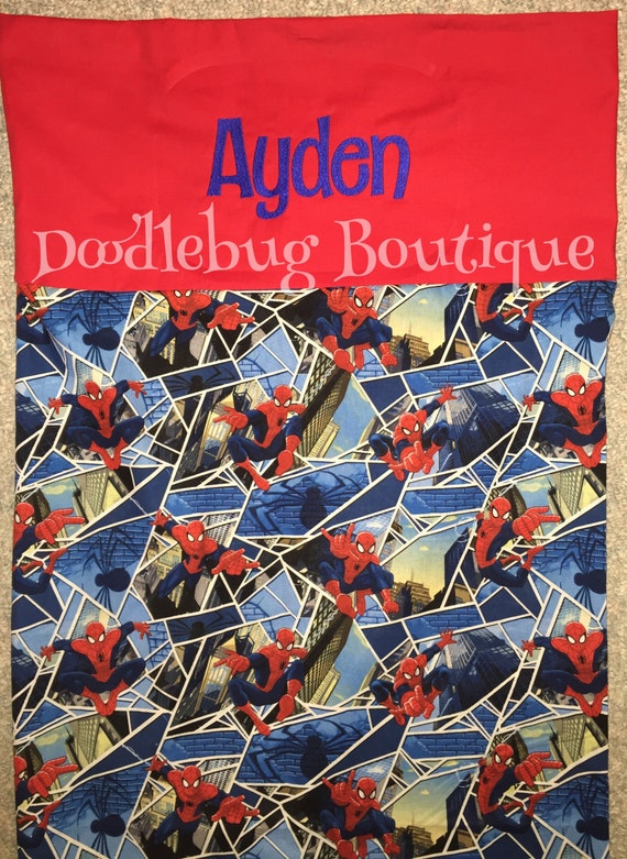Spiderman Nap Mat Cover