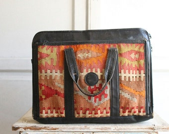vintage kilim laptop bag briefcase