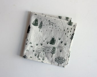 Organic Cotton Handkerchief - Homestead