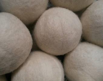 Eco Friendly Dryer Balls, 100% USA Wool, Wool Dryer Balls, Laundry Dryer Balls, Handmade Dryer Balls