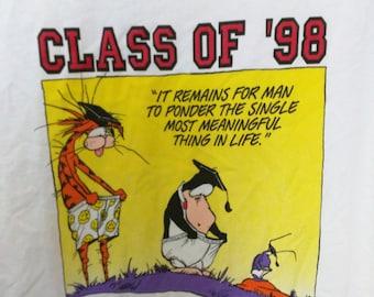 1997 Class of '98 Bloomsbury tshirt white xl men's grad grunge boho normcore NEW deadstock '90s