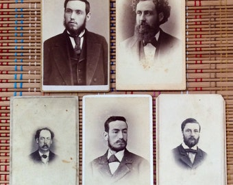 Facial Hair Extraordinaire--Lot of Vintage Cartes des Visite