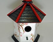 Hand Painted Hanging Wooden Bird House