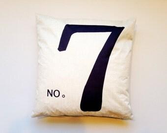 "18""x18"" No. 7 Decorative Pillow Cover"