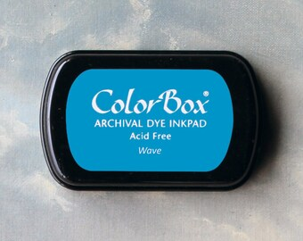 Blue Stamp Pad (Wave) // Archival ink // ColorBox