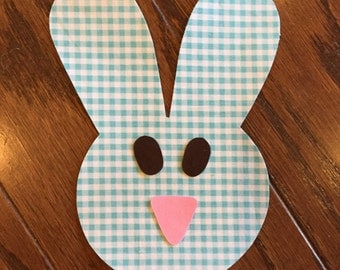 Bunny Face Iron On Applique, You Choose Fabric