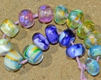 8 Earring Pairs, Premium Silver glass, Lampwork Beads SRA