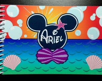Disney Autograph Book - Disney Little Mermaid Ariel  Mickey Autograph Book - Made to Order  Custom Book
