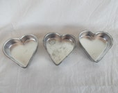 Vintage Small Metal Heart Molds Lot