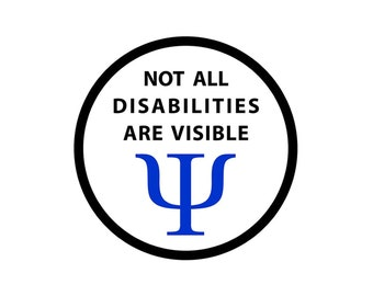Not All Disabilities Are Visible Black Rim Service Dog Sew-on Patch (Choose Size)