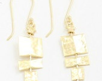 Dangle Squares Earrings 18K Gold-plated