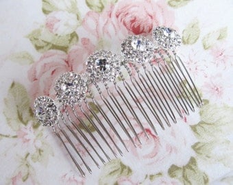 Silver Bridal Hair Comb,Rhinestone Wedding Hair Comb,Bridal Hair Accessories,Wedding Accessories,Decorative Hair Comb,#C39