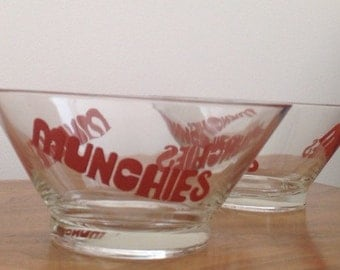 Vintage 70s Indiana Glass Munchies Snack Bowls