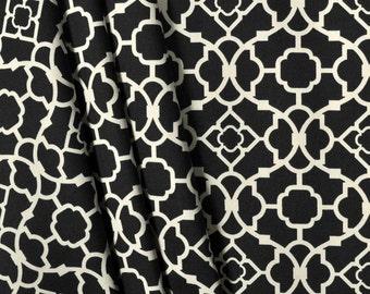 Waverly lovely lattice drapes, pair, two 50W panels, Waverly curtains, lapis caviar black and ivorydrapes