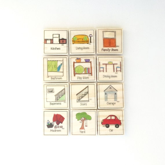 Our House Chore Magnet Set of 12 - Chore Magnets