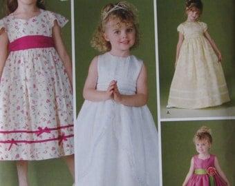 Simplicity 4647 Uncut Sewing Pattern Girls Dress Fancy Dress Party Dress Size 5-6-7-8 Flower Girl Special Occasion 2005