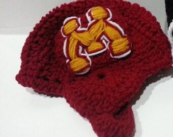 Adult Hockey Helmet, Adult Nhl Crochet Helmet, Nhl Hat