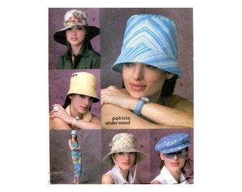 Womens Hats Pattern Yorkshire Driving Cap Bucket Floppy Brim Sun Golf Hat and Sarong Wardrobe Accessories Vogue 7888 Sewing Pattern