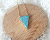 Howlite Triangle Necklace