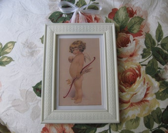 Sweet Cupid Framed Print by Bessie Pease Guttman Two to Choose from