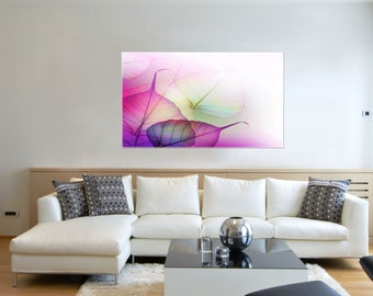 Canvas Prints - Leaves Canvas Art - Leaf Canvas Art - Leaves Prints on Canvas - Framed Ready to Hang  - Forest Decor