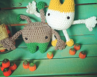 Crocheted Topsy-Turvy Monsters