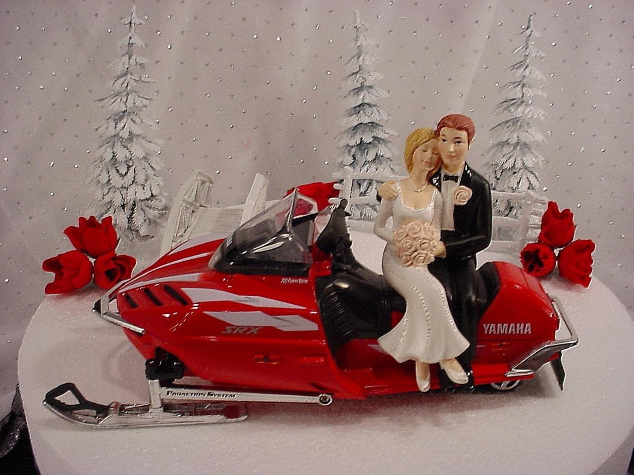 Red Yamaha Srx 700 Snowmobile Snow Sports Lover Groom S