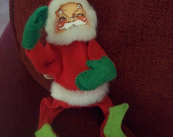 1971 Annalee Mobilitee 6 Inch Santa Claus