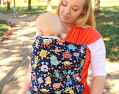 Hybrid Stretch Wrap Baby Carrier - Monster Mash - Comfort Of A Stretchy Wrap With The Support Of A Woven Wrap - For Front & Back Carries